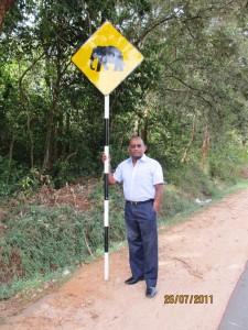 Beware of elephants crossing!